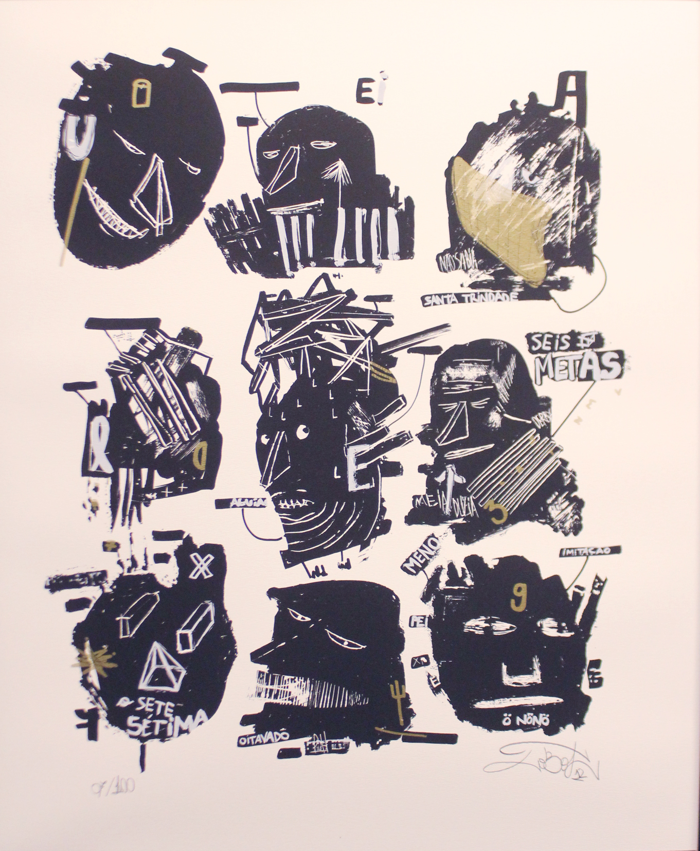 Lobot01/ serigrafia sobre papel / 47x57 / 2013 - Avaliable